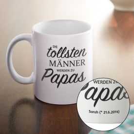 Personalisierte Tasse - Bef�rderung zum Papa
