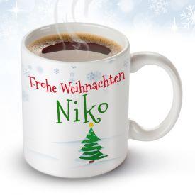 Personalisierte Weihnachtstasse - Weihnachtsgeschenke für Kunden