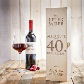 Personalisierte Weinkiste - Geburtstag - Top 10: Geschenke für Männer zum Geburtstag