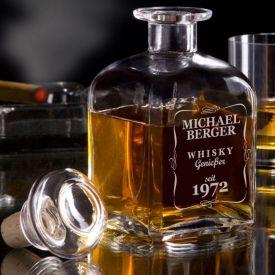 Personalisierte Whisky Karaffe - Klassisch - Geburtstagsgeschenke