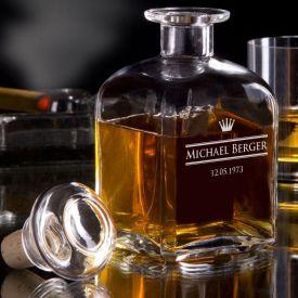 Personalisierte Whisky Karaffe - Royal - Geschenke zum 80. Geburtstag