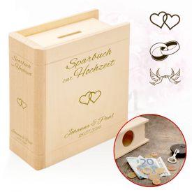 Personalisiertes Sparbuch zur Hochzeit - Geldgeschenke zur Hochzeit
