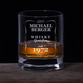 Personalisiertes Whiskyglas - Klassisch