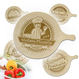 Pizzabrett mit Gravur - Immer lange Lieferzeit