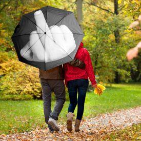 Regenschirm Mittelfinger