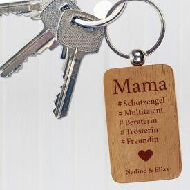Schl�sselanh�nger graviert - Hashtag Mama
