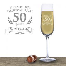 Sektglas zum 50. Geburtstag - Geschenke zum 50. Geburtstag