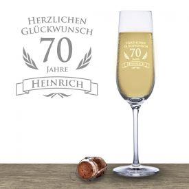 Sektglas zum 70. Geburtstag - Geschenke für Opa