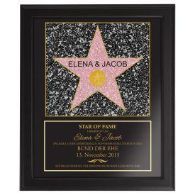 Star of Fame - Hochzeitsbild - Geschenke zum Hochzeitstag