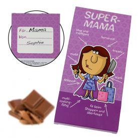 Super-Mama Schokolade - Geschenke für Mama