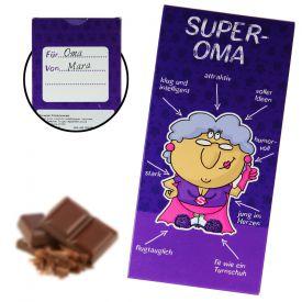 Super-Oma Schokolade - Geschenke zum 80. Geburtstag