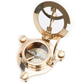 Taschen-Sonnenuhr mit Kompass - Wecker & Uhren