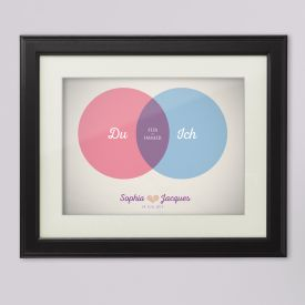 Venn Diagramm Liebe - personalisiertes Bild
