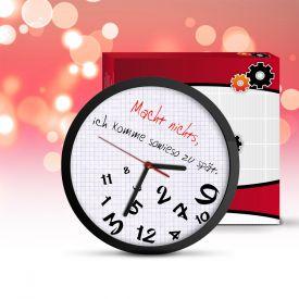 Wanduhr für zu spät Kommer - Lustige Weihnachtsgeschenke