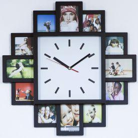 Wanduhr mit Fotorahmen - Wecker & Uhren