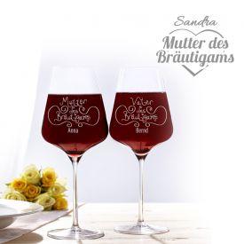 Weinglser fr Brutigameltern