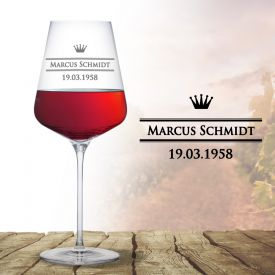 Weinglas mit Gravur - Royal - Geschenke zum Abitur