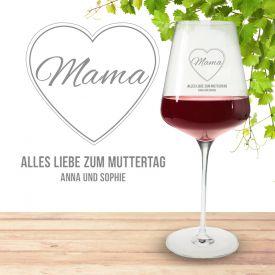 Weinglas mit Gravur zum Muttertag
