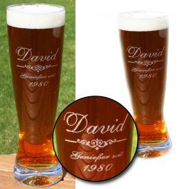 Weizenglas mit Gravur - Top 10: Geschenke für Männer zum Geburtstag