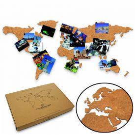 Weltkarte aus Kork - Geschenke für die beste Freundin