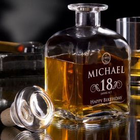 Whisky Karaffe 18. Geburtstag - elegant
