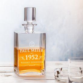 Whisky Karaffe Deluxe mit Gravur - Elegant
