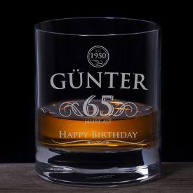 Whiskyglas zum Geburtstag - Elegant - Glasgravur