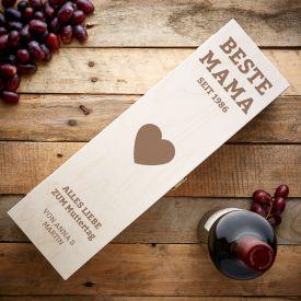 Personalisierte Weinkiste - Beste Mama