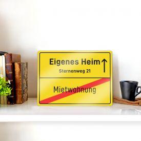 Personalisiertes Ortsschild - Eigenes Heim