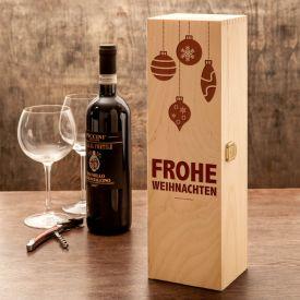 Noble caisse  vin - avec gravure de Nol