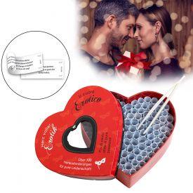 Herz voller Erotik - Set mit 100 Losen fr Paare