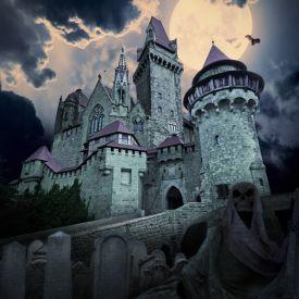 Villa de vampires avec fantme comme maison de campagne