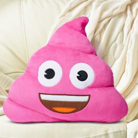 Coussin moji - Crotte pink poo