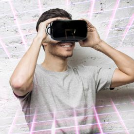 Virtual Reality Brille fr Smartphones