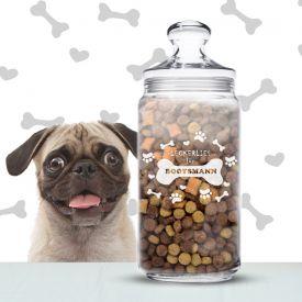 Leckerlies fr Hunde - personalisiertes Vorratsglas