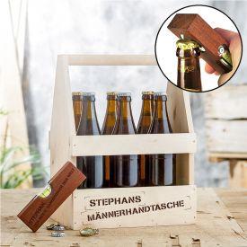 Handwerker Paket - Biertrger mit Wasserwaage