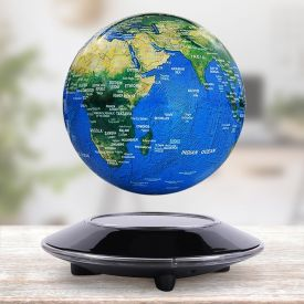 Globe en suspension avec socle lectromagntique