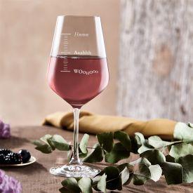 Verre  vin avec gravure - Woohoo