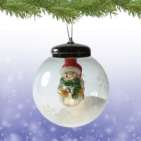 LED Weihnachtskugel - Schneemann