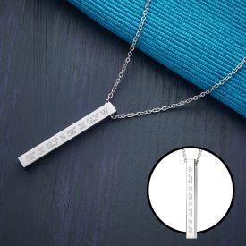 Kette mit Stabanhnger Silber - Geokoordinaten