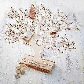 Baum mit Sockel graviert - Kommunion gro