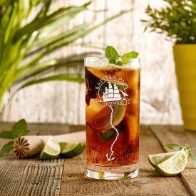 Cocktailglas mit Gravur fr Papa - Segelschiff