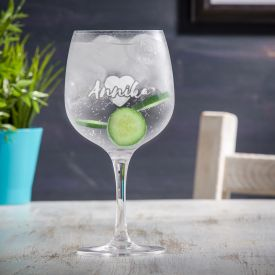 Verre  gin avec gravure - Cur