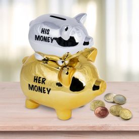 Sparschwein fr Paare - His Money  Her Money