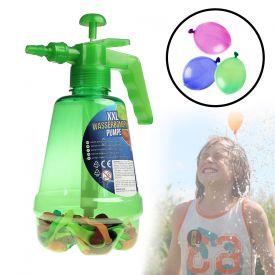Wasserbombenfller - Pumpe mit 100 Wasserballons - grn