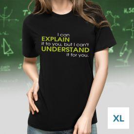 T-Shirt mit Druck - Explain vs Understand - Gre XL