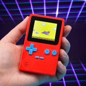 Mini console de jeu rtro avec 152 jeux - rouge