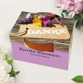10er Blumenset zum Selberpflanzen - Danke