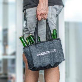 Mnnerhandtasche aus Filz