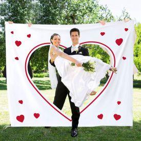 Hochzeitslaken Wortherz - zum Ausschneiden